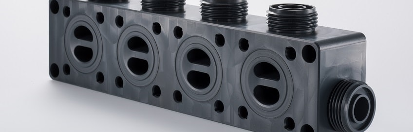 [Translate to English:] Kunststoff Verteilerblock, Ventilblock